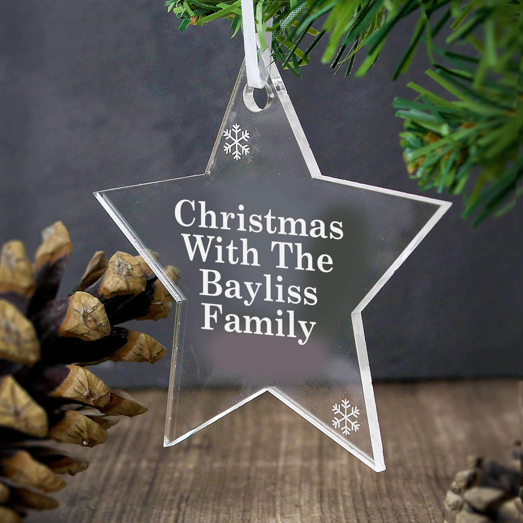 Personalised Acrylic Star Decoration Memento