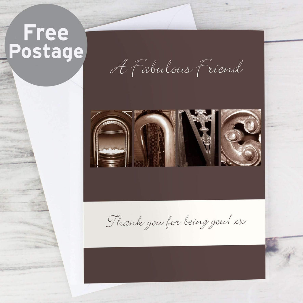 Personalised Affection Art Any Message Card Memento