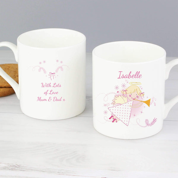 Personalised Angel Balmoral Mug