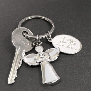 Personalised Angel Keyring