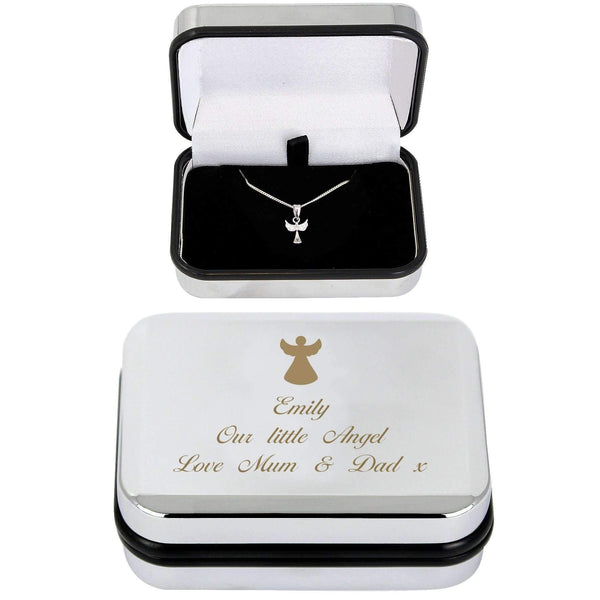 Personalised Angel Necklace & Box