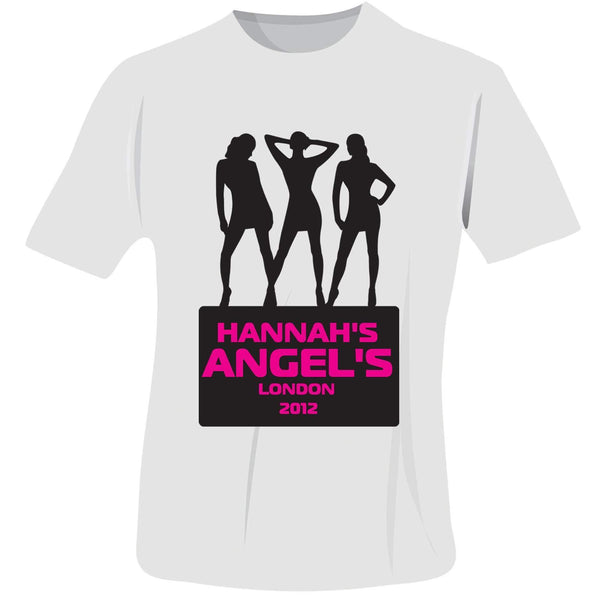 Personalised Angels Hen Do T-Shirt - White - Extra Large