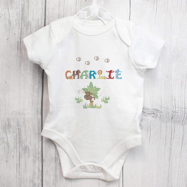 Personalised Animal Alphabet Baby Vest