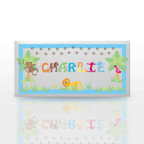 Personalised Animal Alphabet Boys Door Plaque
