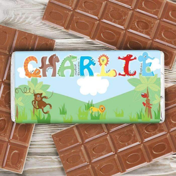 Personalised Animal Milk Chocolate Bar