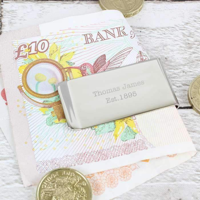 Personalised Any Message Money Clip Memento