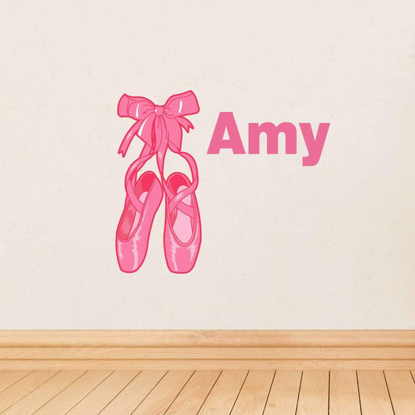 Personalised Ballerina Shoes Wall Art