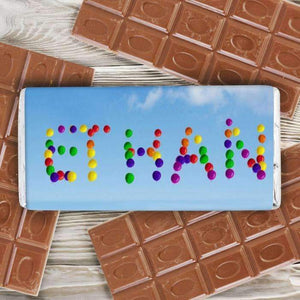 Personalised Balloons Milk Chocolate Bar