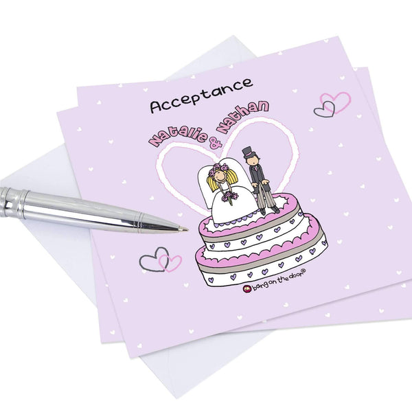Personalised Bang on the Door Acceptance Cards 20 Pack