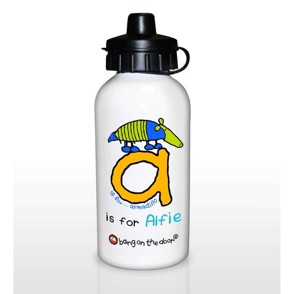 Personalised Bang On The Door Animal Alphabet Boys Drinks Bottles