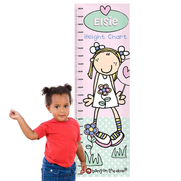 Personalised Bang on the Door Candyfloss Kid Height Chart