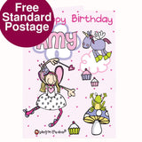 Personalised Bang On The Door Fairy and Unicorn Card