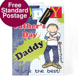 Personalised Bang On The Door Fathers Day Card