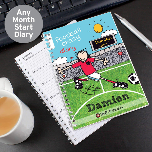 Personalised Bang on the Door Football Crazy A5 Diary
