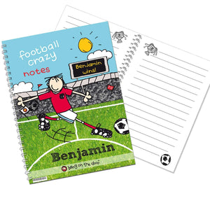 Personalised Bang on the Door Football Crazy A5 Notebook