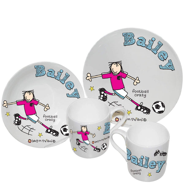 Personalised Bang on the Door Football Crazy Breakfast Set