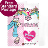 Personalised Bang on  the Door Groovy Chick Card