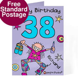Personalised Bang On The Door Male Age Card