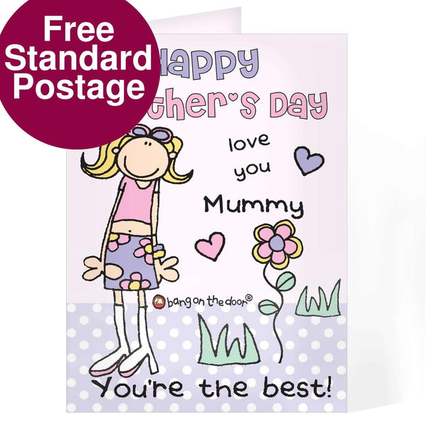 Personalised Bang On The Door Mothers Day Card