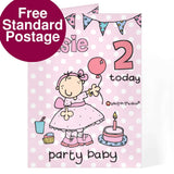 Personalised Bang on the Door Party Baby Age Card