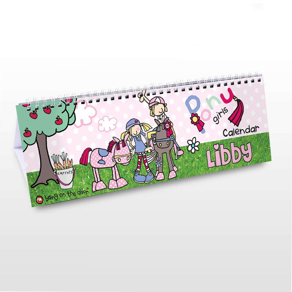 Personalised Bang On The Door Pony Desk Calendar