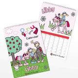 Personalised Bang on the Door Pony Girl A4 Wall Calendar