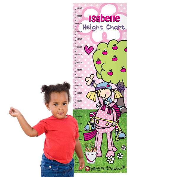 Personalised Bang on the Door Pony Girl Height Chart