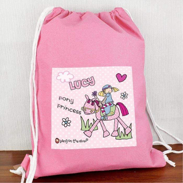 Personalised Bang On The Door Pony Girl Swim & Kit Bag