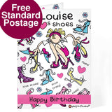 Personalised Bang On The Door Shoes Card