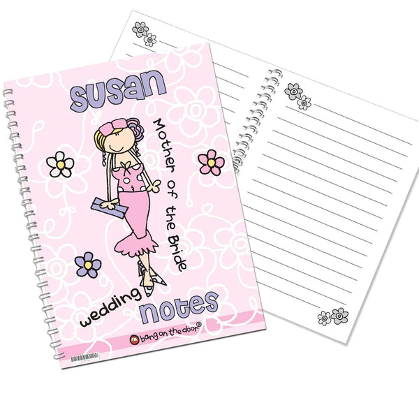 Personalised Bang on the Door Wedding Female A5 Notebook