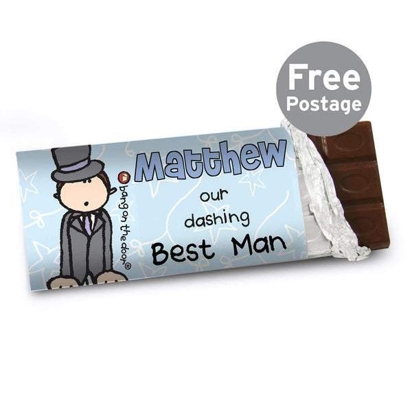 Personalised Bang on the Door Wedding Male Milk Chocolate Bar