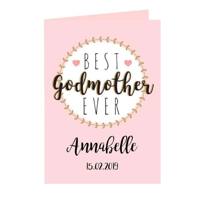 Personalised Best Godmother Card