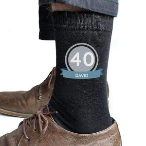 Personalised Birthday Men's Socks