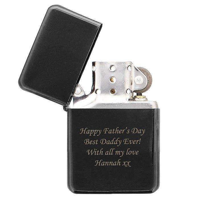Personalised Black Lighter Memento