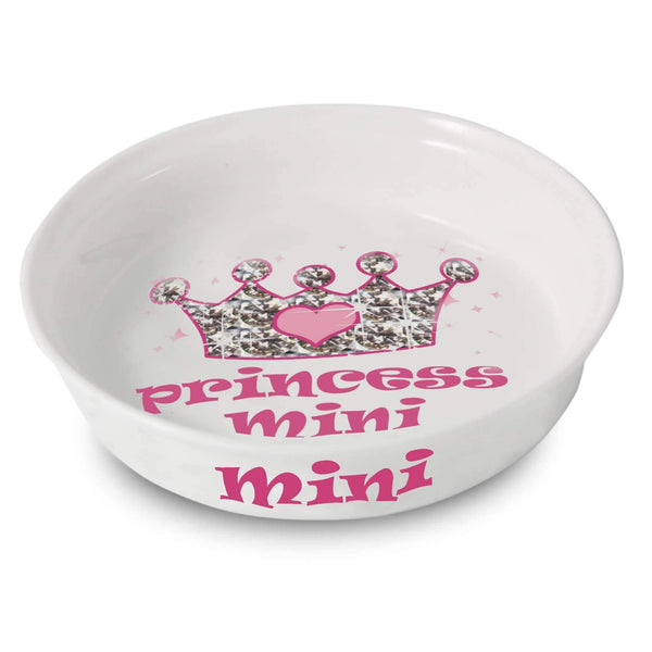 Personalised Bling Princess Pet Bowl