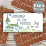 Personalised Blue Church Milk Chocolate Bar