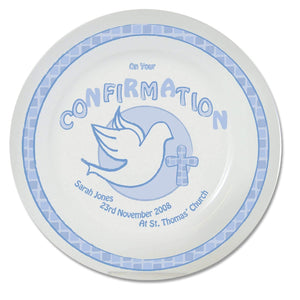 Personalised Blue Confirmation Plate