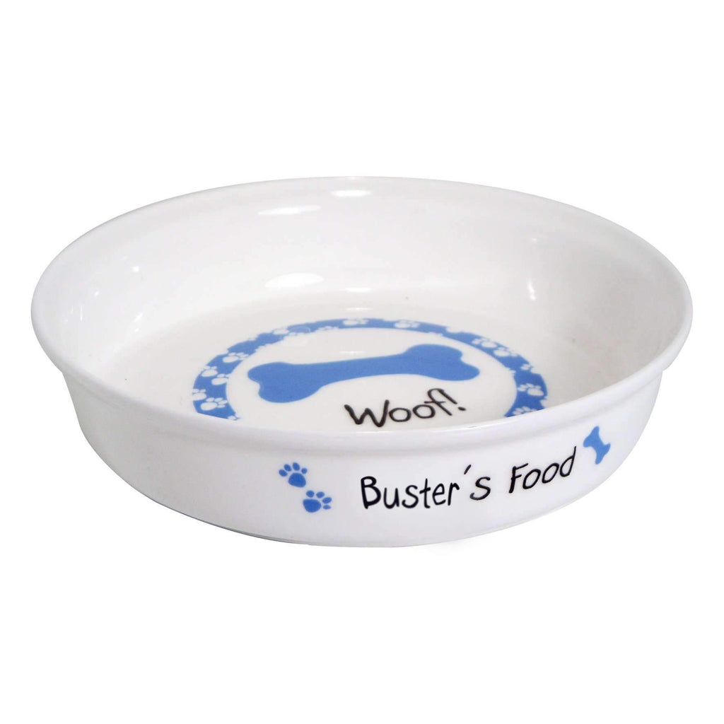 Personalised Blue Dog Bowl