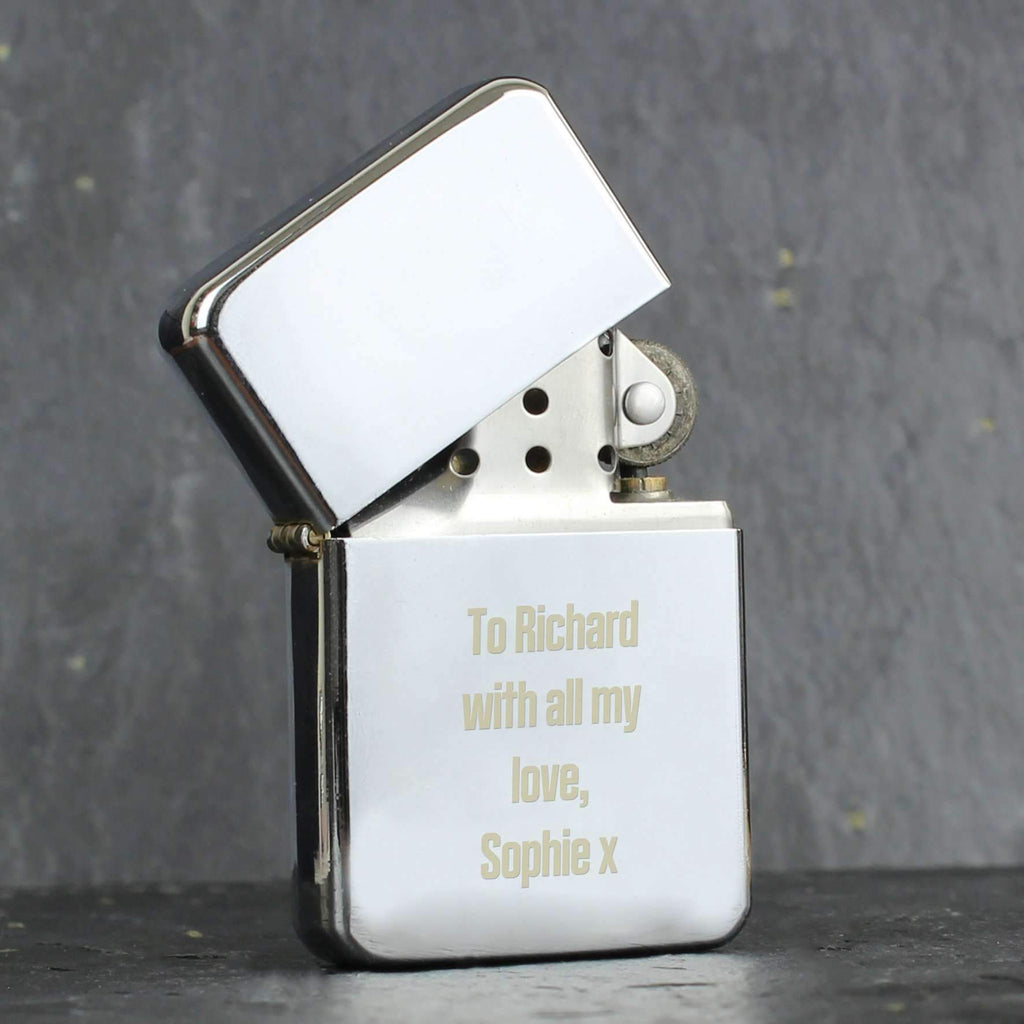 Personalised Bold Font Lighter Memento
