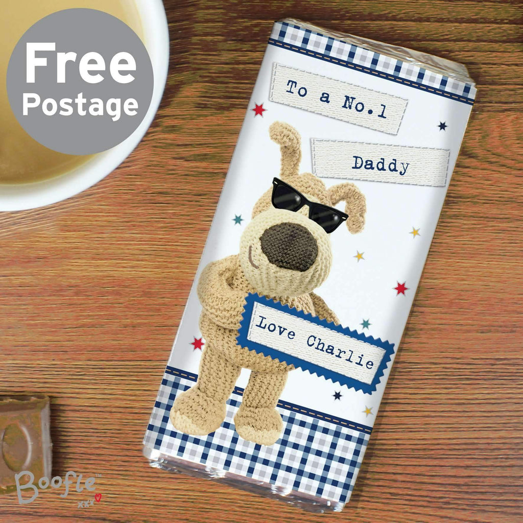 Personalised Boofle Stars Milk Chocolate Bar Memento