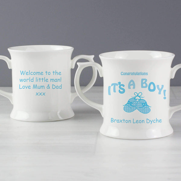 Personalised Bootee It's a Boy Loving Mug