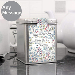 Personalised Botanical Tea & Tin