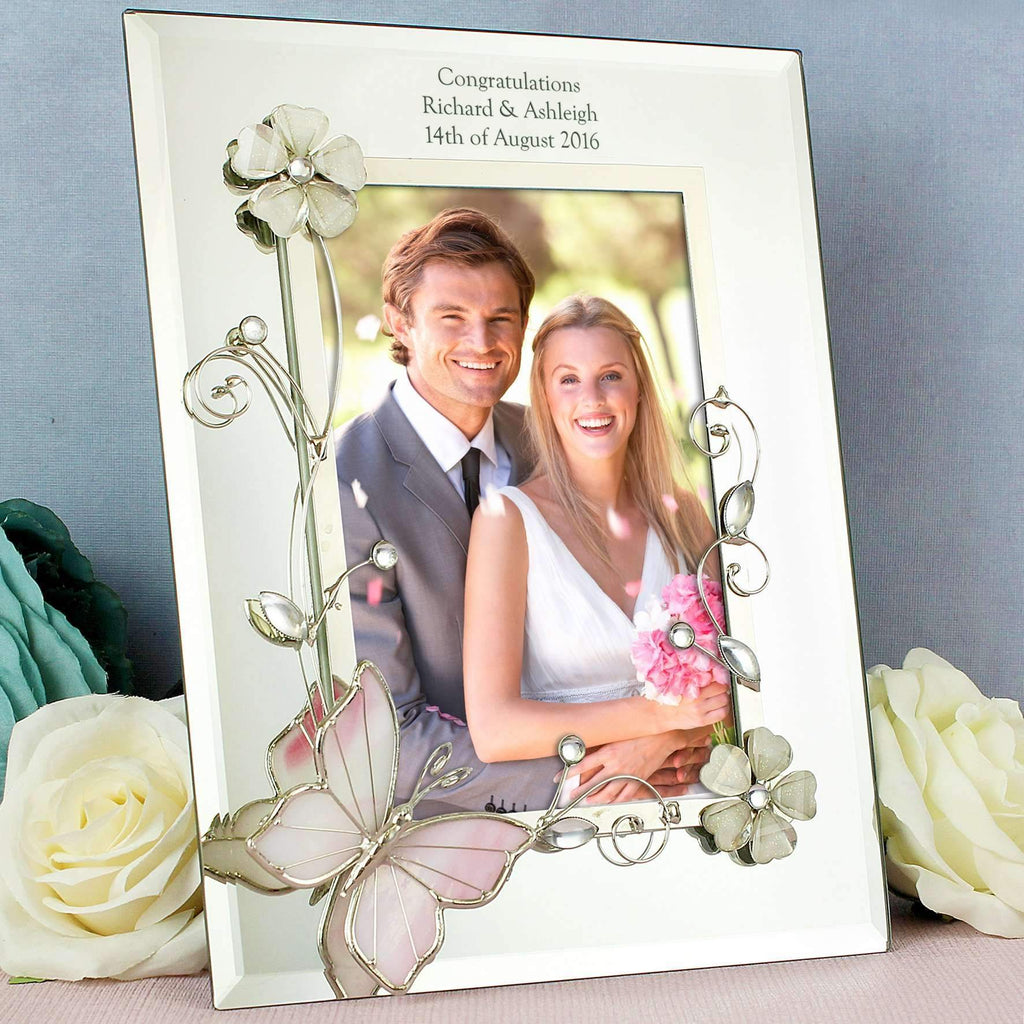 Personalised Butterfly 4x6 Photo Frame