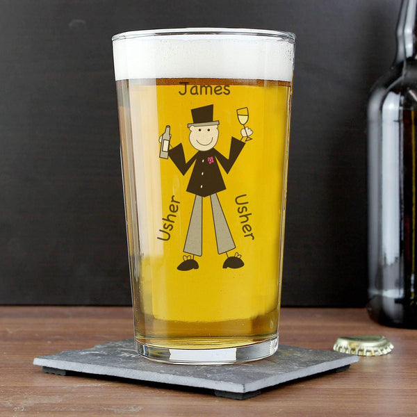 Personalised Cartoon Pint Glass