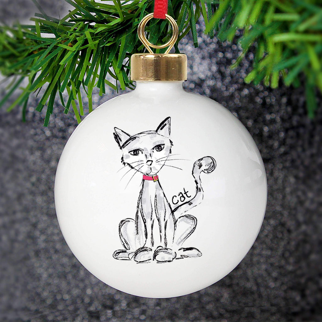 Personalised Cat Bauble