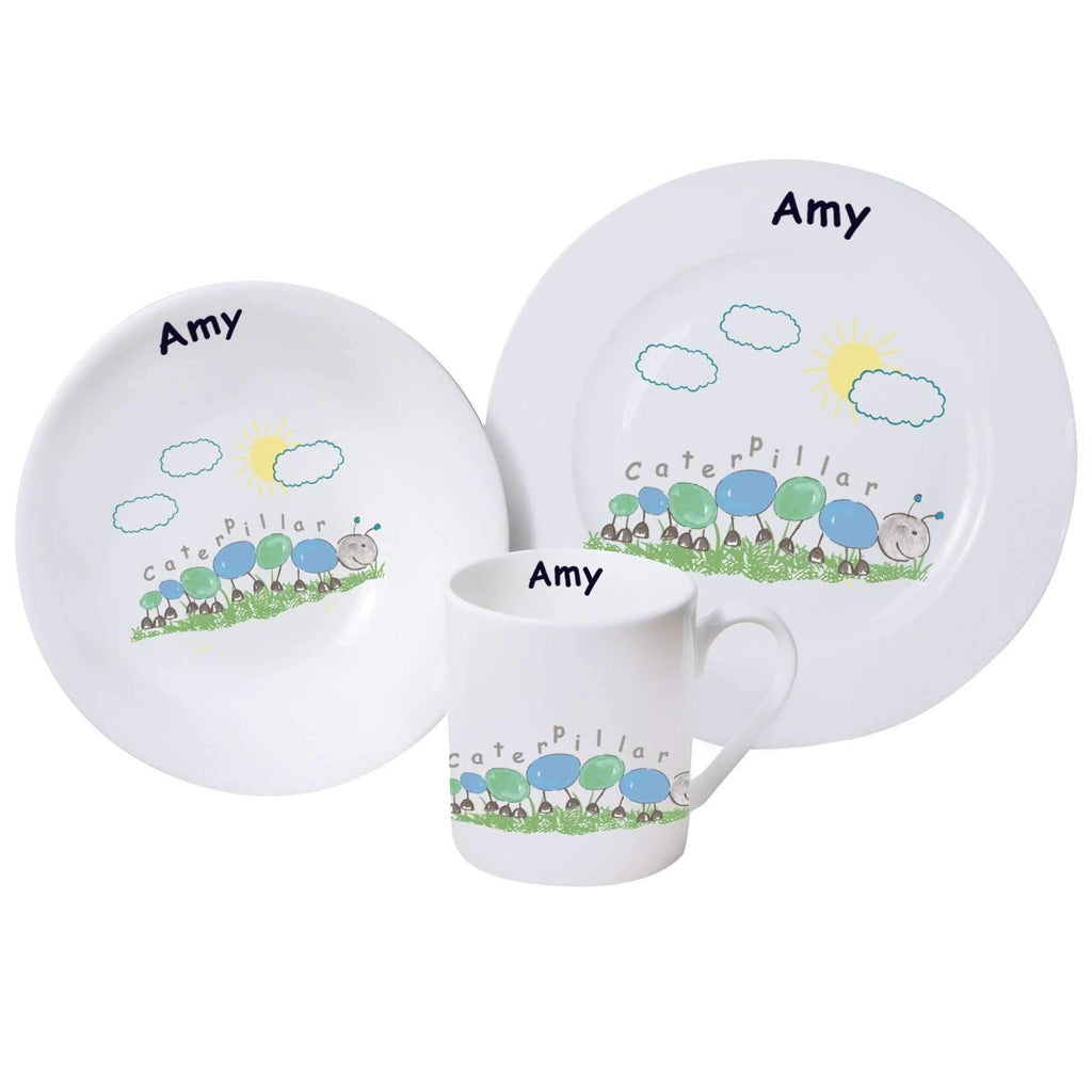 Personalised Caterpillar Breakfast Set Memento