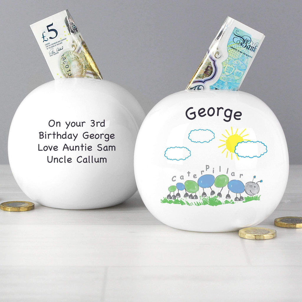 Personalised Caterpillar Money Box