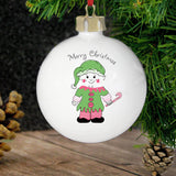 Personalised Cheeky Elf Bauble