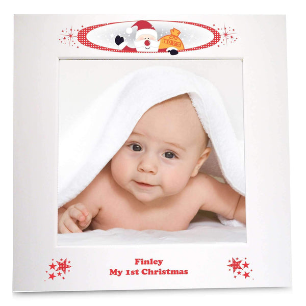 Personalised Christmas White 4x6 Photo Frame