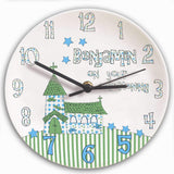 Personalised Church Boys Christening Clock